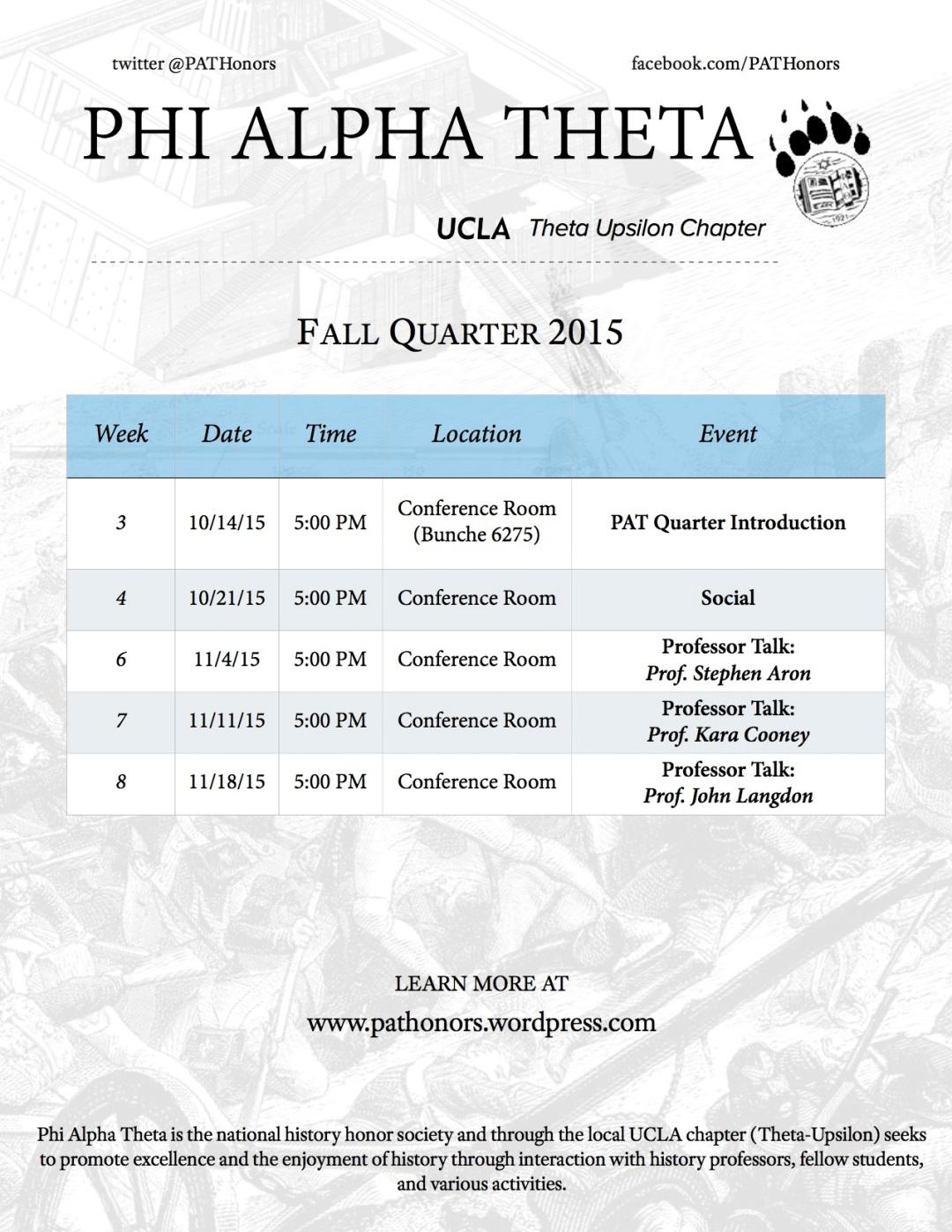 Flyer - Final Fall 2015 Schedule