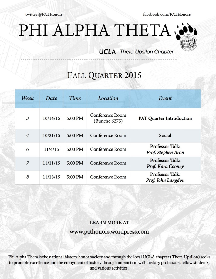 Flyer - Final Fall 2015 Schedule