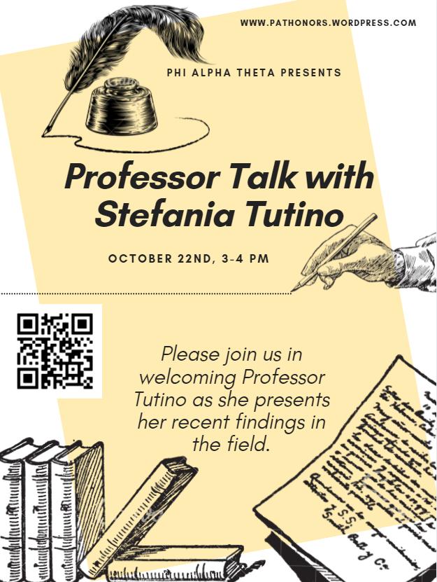Professor Talk with Stefania Tutino